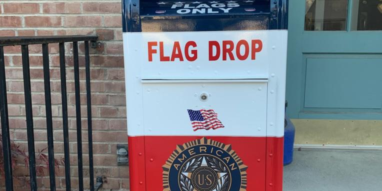 Flag Drop box Town Hall