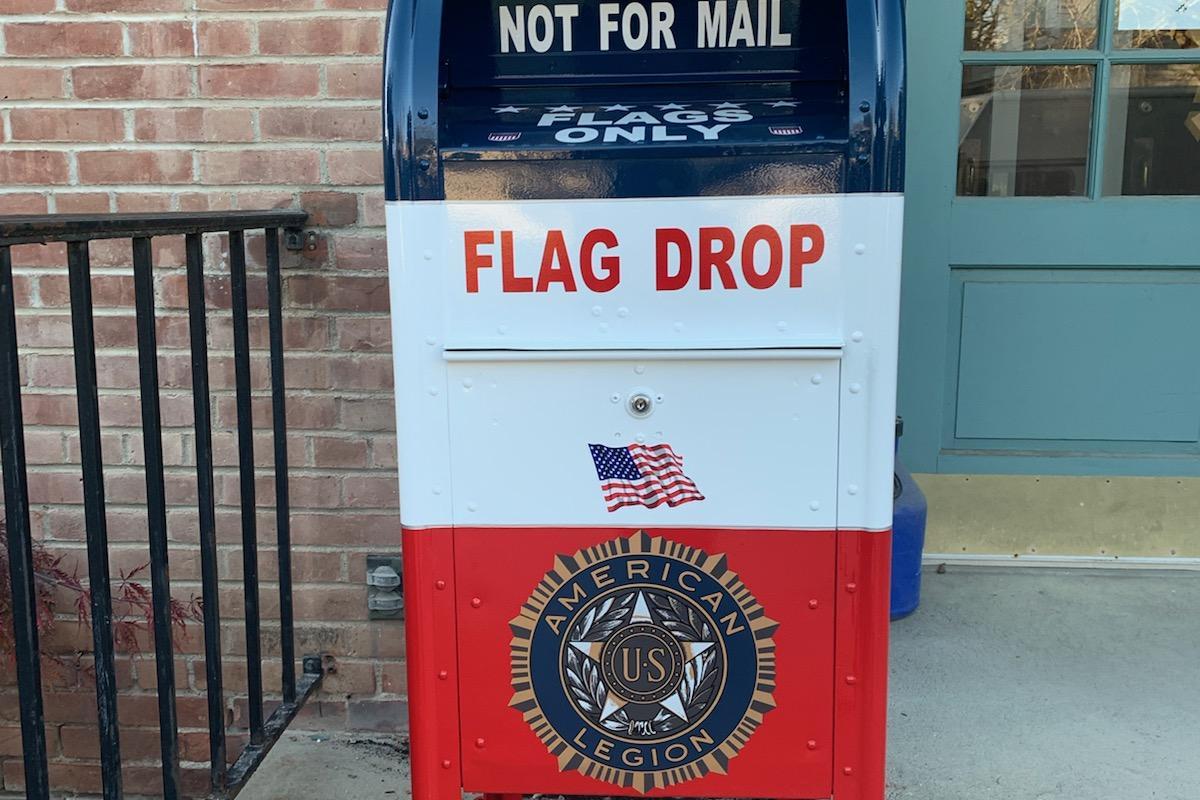 Flag Drop box Town Hall