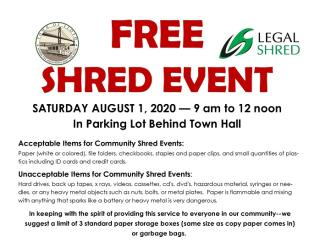 Rescheduled Shred Event