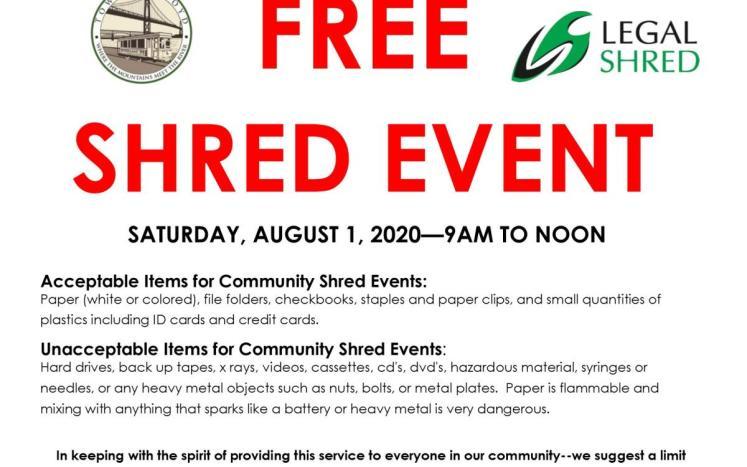Rescheduled Shred Event